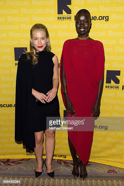 Actress Piper Perabo and model Nykhor Paul attend the 2014 International Rescue Committee Freedom Award Benefit Event at The WaldorfAstoria on...