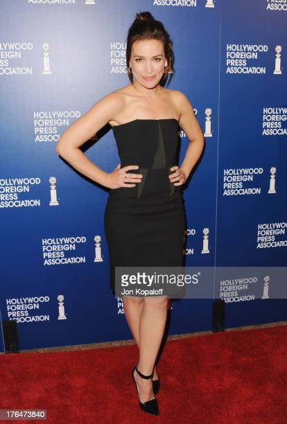 Actress Piper Perabo arrives at the Hollywood Foreign Press Association's 2013 Installation Luncheon at The Beverly Hilton Hotel on August 13 2013 in...