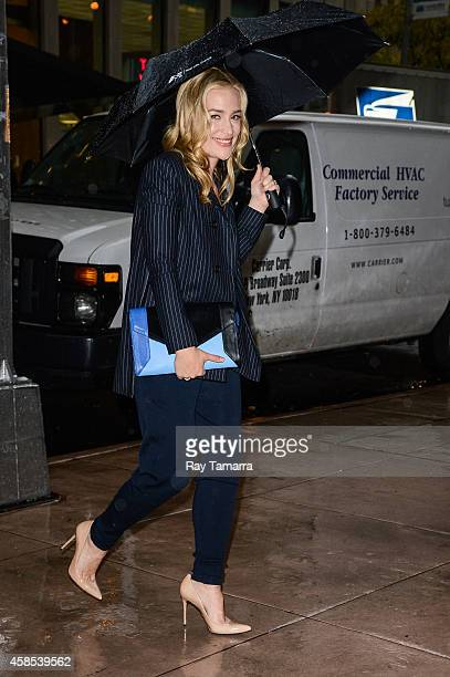 Actress Piper Perabo enters the Sirius XM Studios on November 6 2014 in New York City
