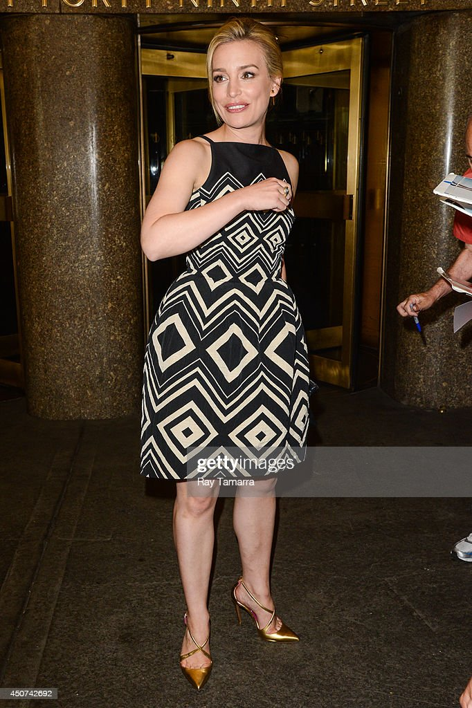 Actress Piper Perabo leaves the NBC Rockefeller Center Studios on June 16, 2014 in New York City.
