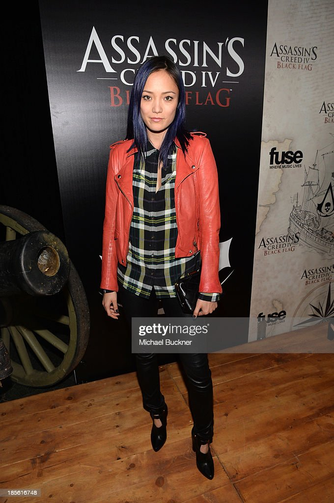 Actress Pom Klementief attends the Assasin's Creed IV Black Flag Launch Party at Greystone Manor Supperclub on October 22, 2013 in West Hollywood, California.