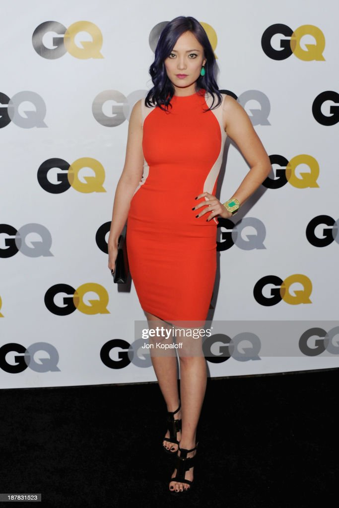 Actress <a gi-track='captionPersonalityLinkClicked' href=/galleries/search?phrase=Pom+Klementieff&family=editorial&specificpeople=5679573 ng-click='$event.stopPropagation()'>Pom Klementieff</a> arrives at GQ Celebrates The 2013 'Men Of The Year' at The Wilshire Ebell Theatre on November 12, 2013 in Los Angeles, California.