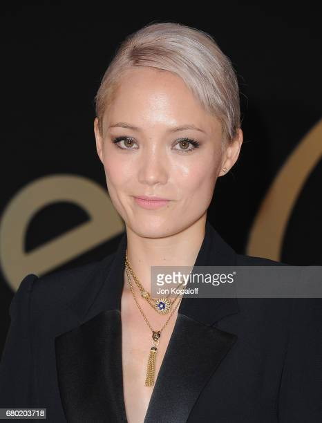 Actress Pom Klementieff arrives at the Panthere De Cartier Party In LA at Milk Studios on May 5 2017 in Los Angeles California