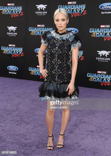 Actress Pom Klementieff attends the premiere of 'Guardians of the Galaxy Vol 2' at Dolby Theatre on April 19 2017 in Hollywood California
