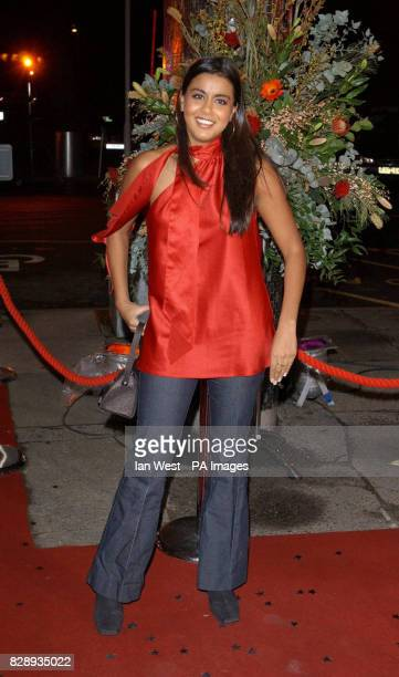 Actress Pooja Shah who plays Kareena Ferreira in the BBC1 soap Eastenders arrives for the 2003 TV Moments Awards held at the BBC Television Centre...