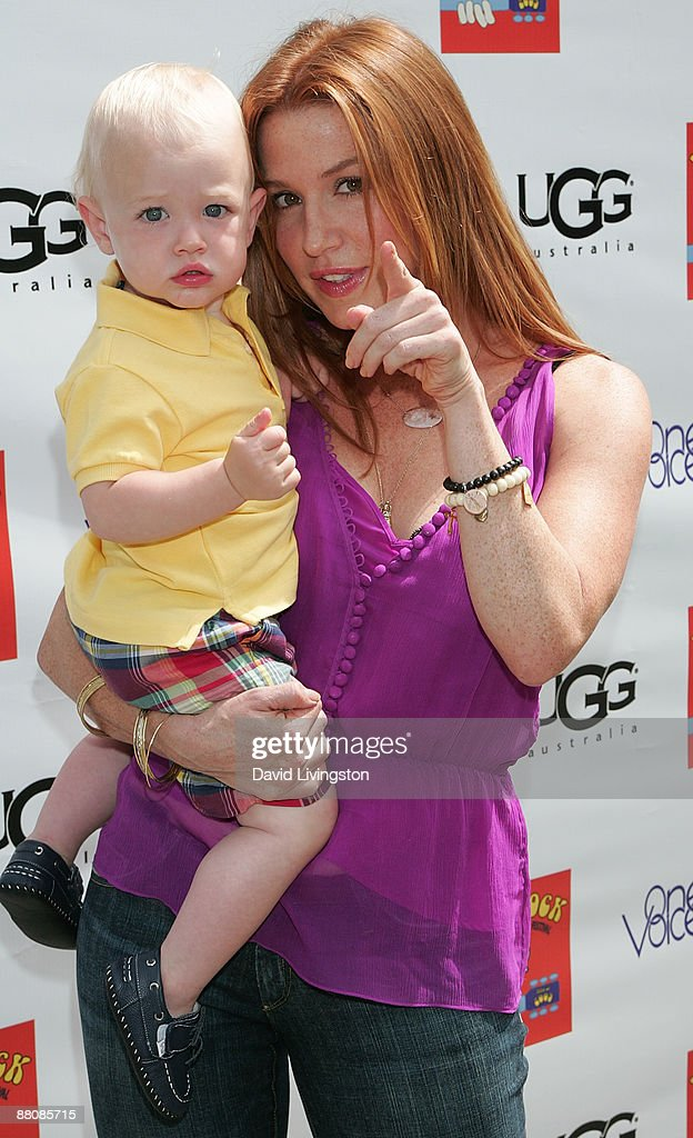 Actress Poppy Montgomery and her son Jackson attend the 3rd annual Kidstock Music and Art Festival at Greystone Mansion on May 31, 2009 in Beverly Hills, California.