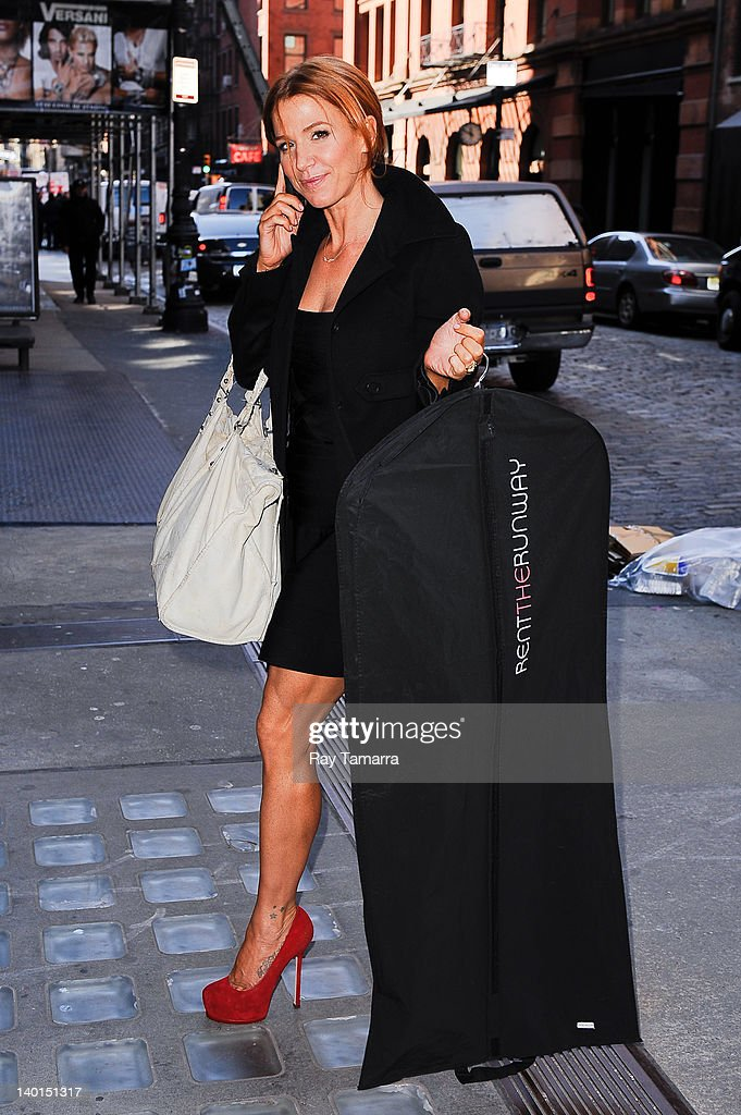 Actress Poppy Montgomery enters a Soho office building on February 28, 2012 in New York City.