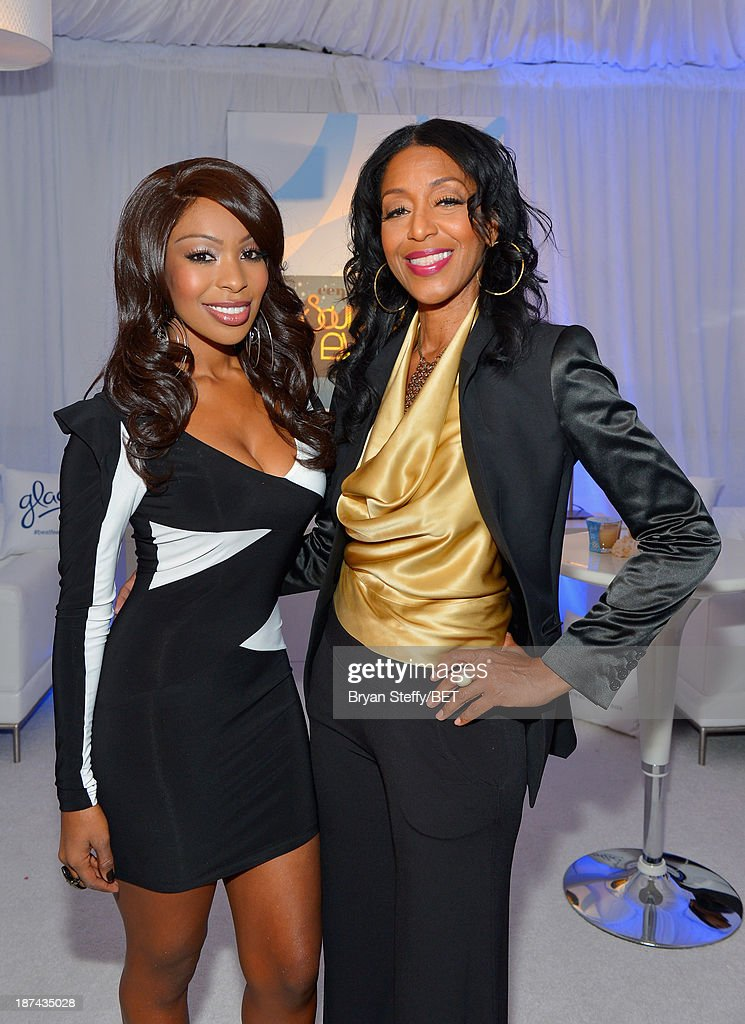 Actress Porscha Coleman and producer Robi Reed attend the Soul Train Awards 2013 at the Orleans Arena on November 8 2013 in Las Vegas Nevada