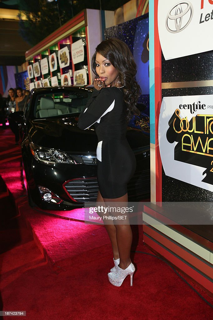 Actress Porscha Coleman attends the Soul Train Awards 2013 at the Orleans Arena on November 8, 2013 in Las Vegas, Nevada.