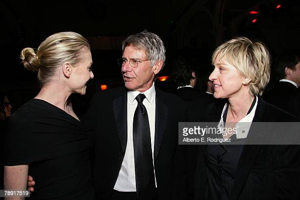 Actress Portia De Rossi actor Harrison Ford and TV host Ellen DeGeneres attend the 'Heaven Celebrating 10 Years' event benefiting the Art Elysium...