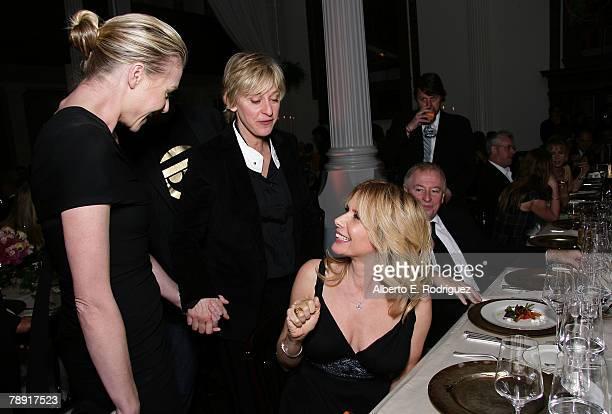 Actress Portia De Rossi actress Rosanna Arquette and TV host Ellen DeGeneres attend the 'Heaven Celebrating 10 Years' event benefiting the Art...