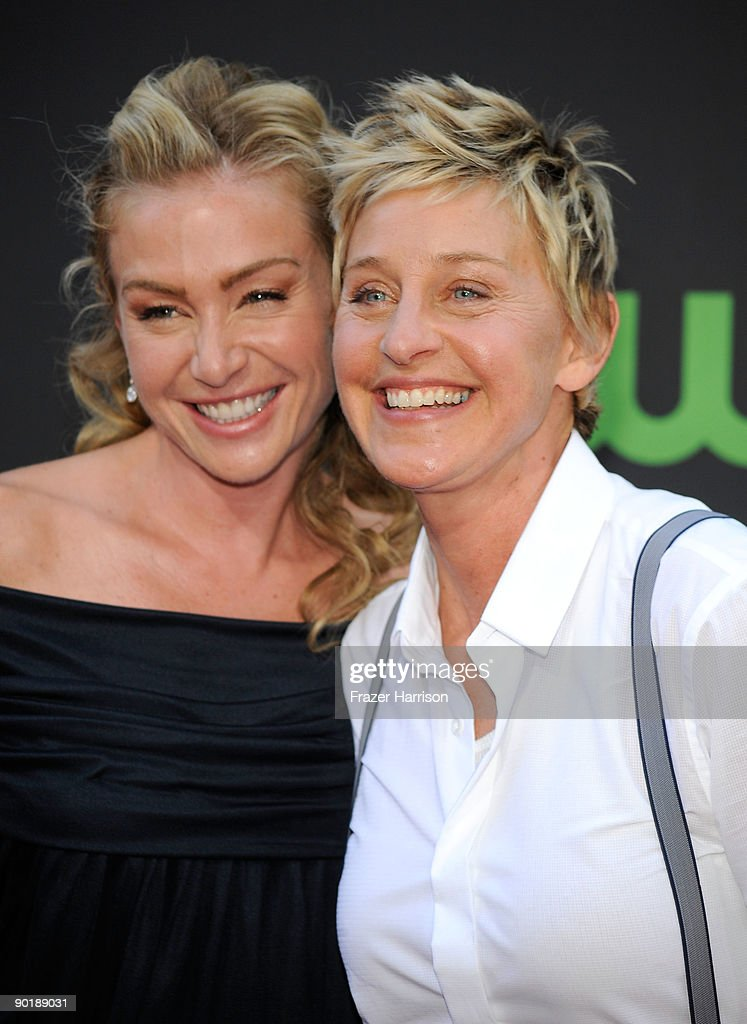 Actress Portia de Rossi and Comedian Ellen DeGeneres attend the 36th Annual Daytime Emmy Awards at The Orpheum Theatre on August 30, 2009 in Los Angeles, California. (Photo by Frazer Harrison/Getty Images