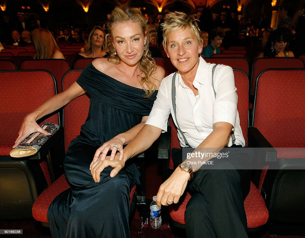 Actress Portia de Rossi and TV personality <a gi-track='captionPersonalityLinkClicked' href=/galleries/search?phrase=Ellen+DeGeneres&family=editorial&specificpeople=171367 ng-click='$event.stopPropagation()'>Ellen DeGeneres</a> attend the 36th Annual Daytime Emmy Awards at The Orpheum Theatre on August 30, 2009 in Los Angeles, California.