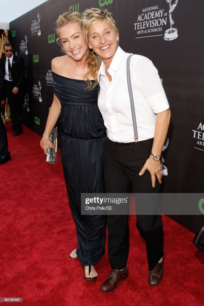 Actress Portia de Rossi and TV personality <a gi-track='captionPersonalityLinkClicked' href=/galleries/search?phrase=Ellen+DeGeneres&family=editorial&specificpeople=171367 ng-click='$event.stopPropagation()'>Ellen DeGeneres</a> attend the 36th Annual Daytime Emmy Awards at The Orpheum Theatre on August 30, 2009 in Los Angeles, California. (Photo by Frazer Harrison/Getty Images