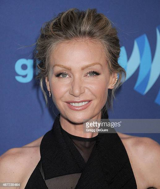Actress Portia de Rossi arrives at the 26th Annual GLAAD Media Awards at The Beverly Hilton Hotel on March 21 2015 in Beverly Hills California