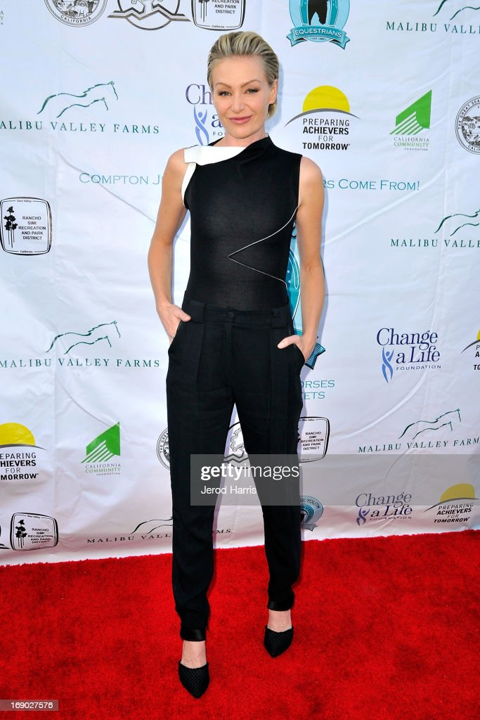 Actress Portia de Rossi arrives at the 6th Annual Compton Jr. Posse Gala at the Los Angeles Equestrian Center on May 18, 2013 in Los Angeles, California.
