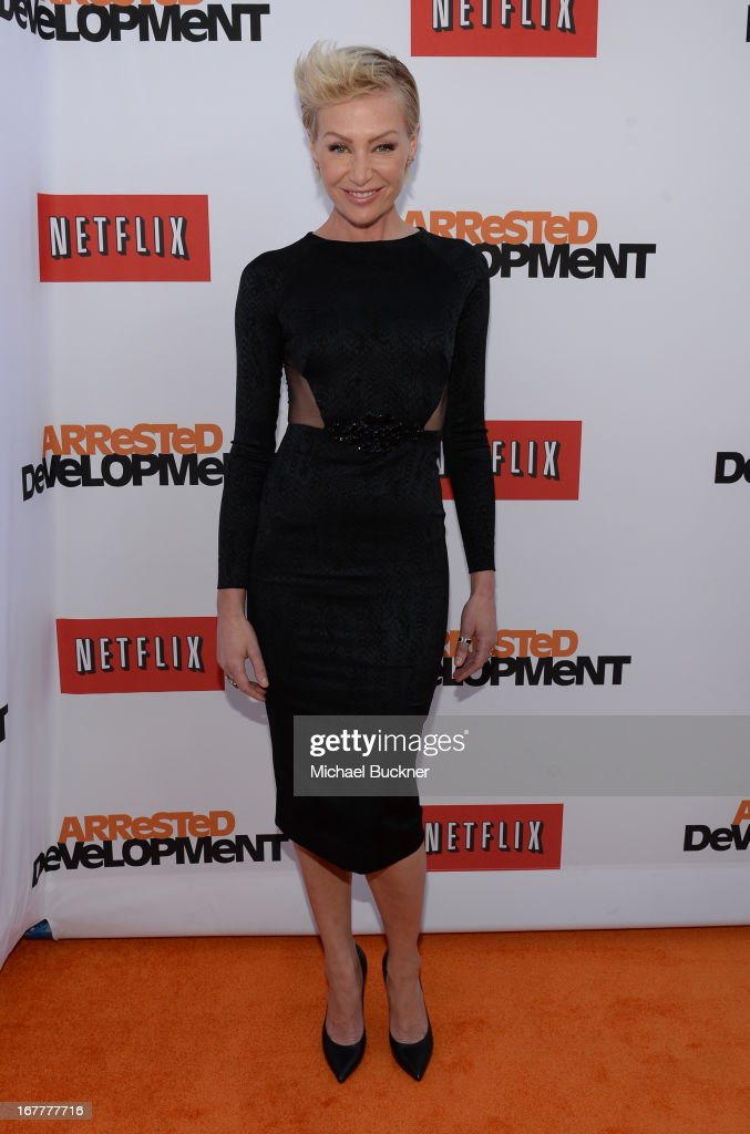 Actress Portia de Rossi arrives at the Los Angeles Premiere of Season 4 of Netflix's 'Arrested Development' at the TCL Chinese Theatre on April 29, 2013 in Hollywood, California.
