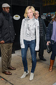 Actress Portia de Rossi leaves the 'Good Morning America' taping at the ABC Times Square Studios on February 12 2015 in New York City