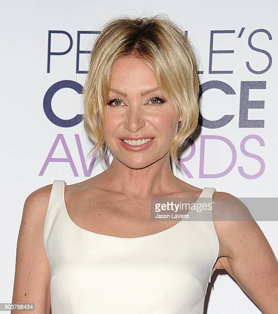 Actress Portia de Rossi poses on the press room at the 2016 People's Choice Awards at Microsoft Theater on January 6 2016 in Los Angeles California