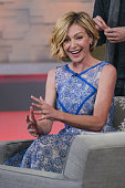 Actress Portia de Rossi tapes an interview at 'Good Morning America' at the ABC Times Square Studios on February 12 2015 in New York City