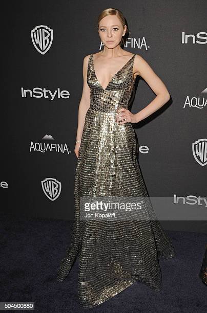 Actress Portia Doubleday arrives at the 2016 InStyle And Warner Bros 73rd Annual Golden Globe Awards PostParty at The Beverly Hilton Hotel on January...