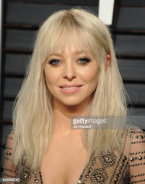 Actress Portia Doubleday arrives at the 2017 Vanity Fair Oscar Party Hosted By Graydon Carter at Wallis Annenberg Center for the Performing Arts on...
