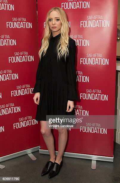 Actress Portia Doubleday attends SAGAFTRA Foundation's Conversations with 'Mr Robot' at NeueHouse Hollywood on November 30 2016 in Los Angeles...