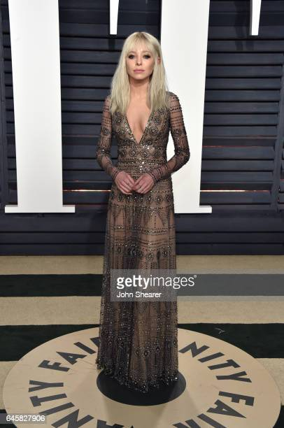 Actress Portia Doubleday attends the 2017 Vanity Fair Oscar Party hosted by Graydon Carter at Wallis Annenberg Center for the Performing Arts on...