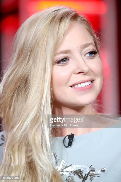 Actress Portia Doubleday speaks onstage during the 'Mr Robot' panel discussion at the NBCUniversal portion of the 2016 Winter TCA Tour at Langham...