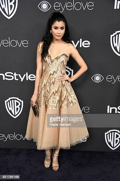 Actress Praya Lundberg attends the 18th Annual PostGolden Globes Party hosted by Warner Bros Pictures and InStyle at The Beverly Hilton Hotel on...