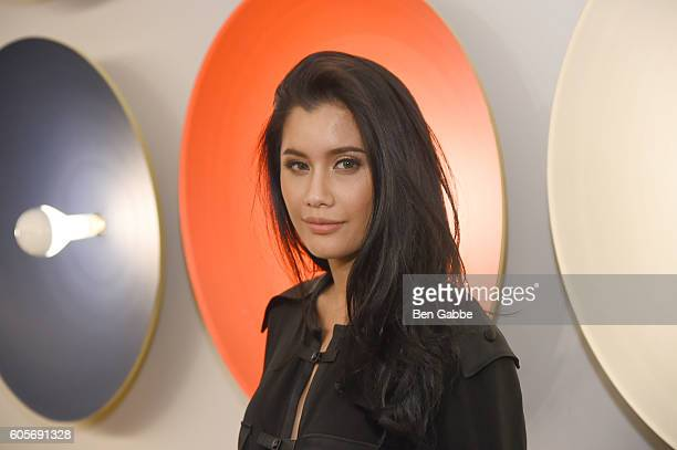 Actress Praya Lundberg attends the Boss Womenswear fashion show during New York Fashion Week September 2016 at The Gallery Skylight at Clarkson Sq on...