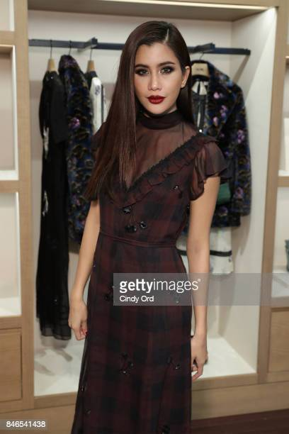 Actress Praya Lundberg attends the Coach InStore Event with Selena Gomez at Coach Boutique on September 13 2017 in New York City