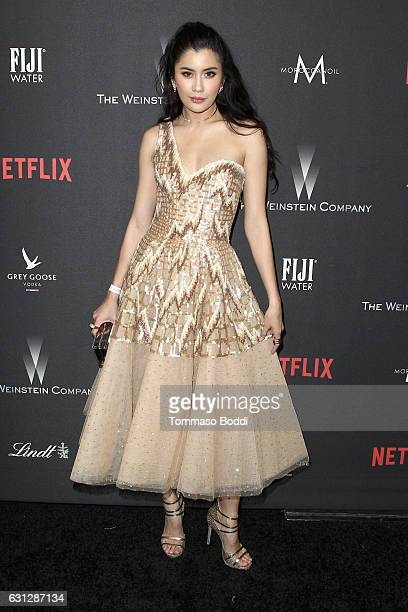 Actress Praya Lundberg attends The Weinstein Company and Netflix Golden Globe Party presented with FIJI Water Grey Goose Vodka Lindt Chocolate and...