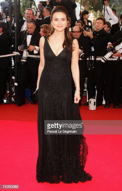 Actress Preity Zinta attends the premiere for the film 'Chacun Son Cinema' at the Palais des Festivals during the 60th International Cannes Film...