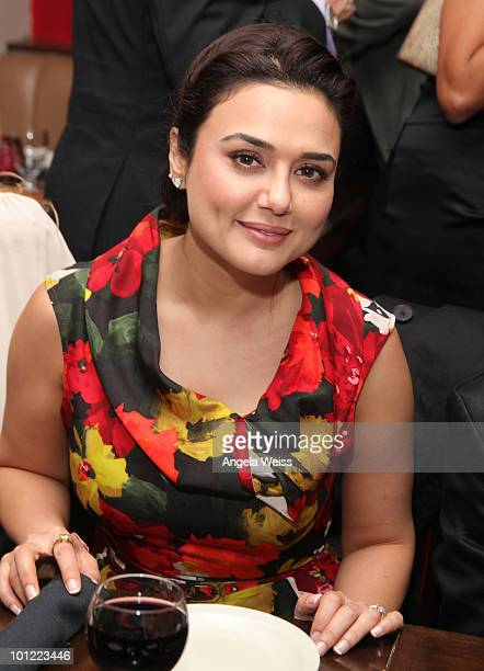 Actress Priety Zinta attends Sir Ben Kingsley's Walk of Fame Star celebration at Nirvana Beverly Hills on May 27 2010 in Beverly Hills California