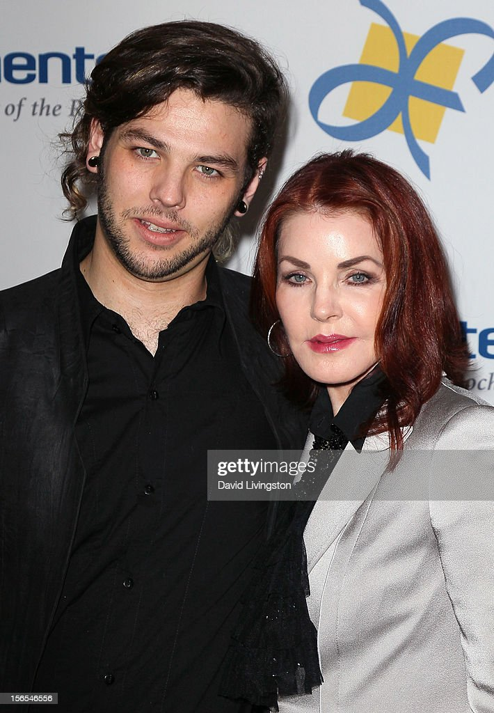 Actress <a gi-track='captionPersonalityLinkClicked' href=/galleries/search?phrase=Priscilla+Presley&family=editorial&specificpeople=93969 ng-click='$event.stopPropagation()'>Priscilla Presley</a> (R) and son <a gi-track='captionPersonalityLinkClicked' href=/galleries/search?phrase=Navarone+Garibaldi&family=editorial&specificpeople=6750399 ng-click='$event.stopPropagation()'>Navarone Garibaldi</a> attend the Dream Foundation's 11th Annual Celebration of Dreams at Bacara Resport and Spa on November 16, 2012 in Santa Barbara, California. Dream Foundation is a national organization that serves the final wishes of adults - and their families - facing life-threatening illness.