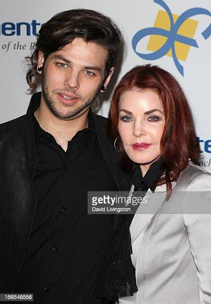 Actress Priscilla Presley and son Navarone Garibaldi attend the Dream Foundation's 11th Annual Celebration of Dreams at Bacara Resport and Spa on...