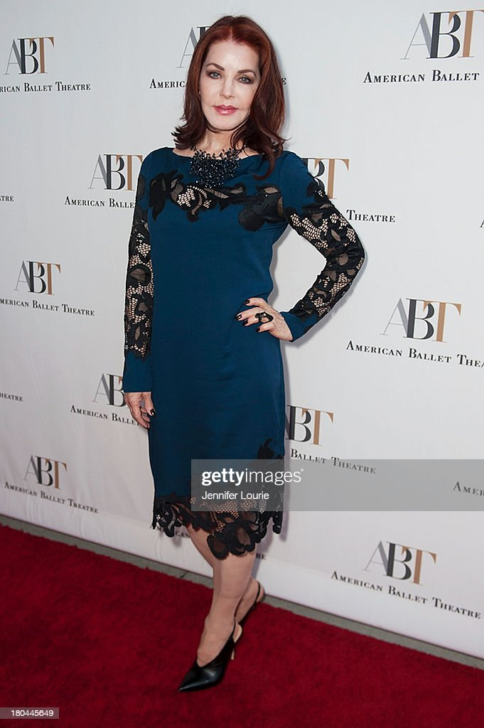 Actress <a gi-track='captionPersonalityLinkClicked' href=/galleries/search?phrase=Priscilla+Presley&family=editorial&specificpeople=93969 ng-click='$event.stopPropagation()'>Priscilla Presley</a> arrives at the American Ballet Theatre's Annual Fundraiser 'Stars Under the Stars: An Evening in Los Angeles' at private residence on September 12, 2013 in Beverly Hills, California.