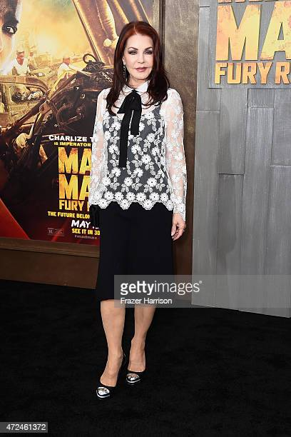 Actress Priscilla Presley arrives at the Premiere Of Warner Bros Pictures' 'Mad Max Fury Road' at TCL Chinese Theatre on May 7 2015 in Hollywood...