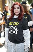 Priscilla Presley And Kim Basinger Attend Protest In...