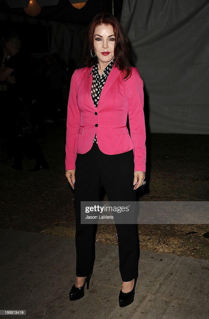 Actress Priscilla Presley attends the 8th annual Johnny Ramone tribute at Hollywood Forever on August 19 2012 in Hollywood California
