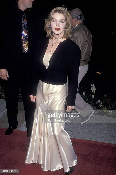 Actress Priscilla Presley attends the 'Naked Gun 33 1/3 The Final Insult' Hollywood Premiere on March 16 1994 at the Paramount Studios in Hollywood...
