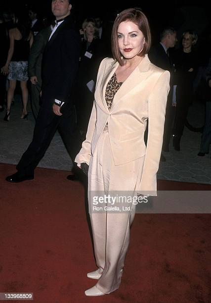 Actress Priscilla Presley attends the 'Primary Colors' Universal City Premiere on March 12 1998 at the Cineplex Odeon Universal City Cinemas in...