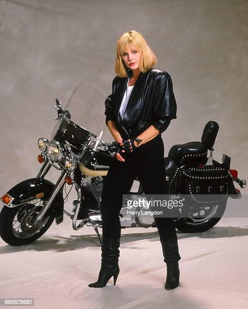 Actress Priscilla Presley poses for a portrait in 1992 in Los Angeles California