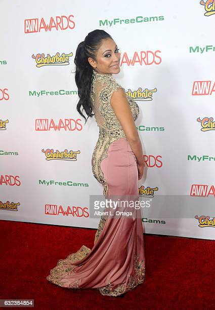 Actress Priya Rai arrives at the 2017 Adult Video News Awards held at the Hard Rock Hotel Casino on January 21 2017 in Las Vegas Nevada