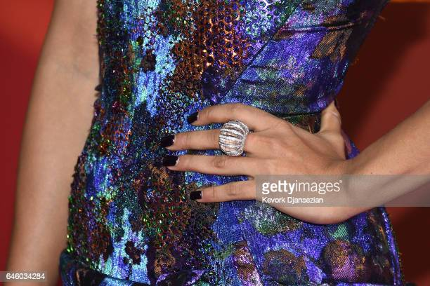 Actress Priyanka Bose ring detail attends the 89th Annual Academy Awards at Hollywood Highland Center on February 26 2017 in Hollywood California