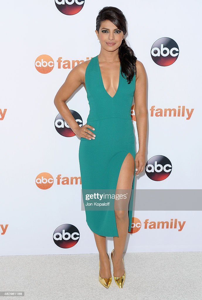 Actress <a gi-track='captionPersonalityLinkClicked' href=/galleries/search?phrase=Priyanka+Chopra&family=editorial&specificpeople=228954 ng-click='$event.stopPropagation()'>Priyanka Chopra</a> arrives at Disney ABC Television Group's 2015 TCA Summer Press Tour at the Beverly Hilton Hotel on August 4, 2015 in Beverly Hills, California.