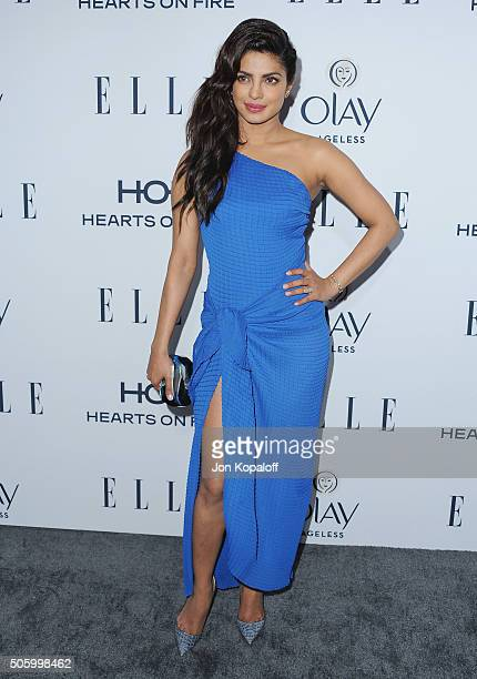 Actress Priyanka Chopra arrives at ELLE's 6th Annual Women In Television Dinner at Sunset Tower Hotel on January 20 2016 in West Hollywood California