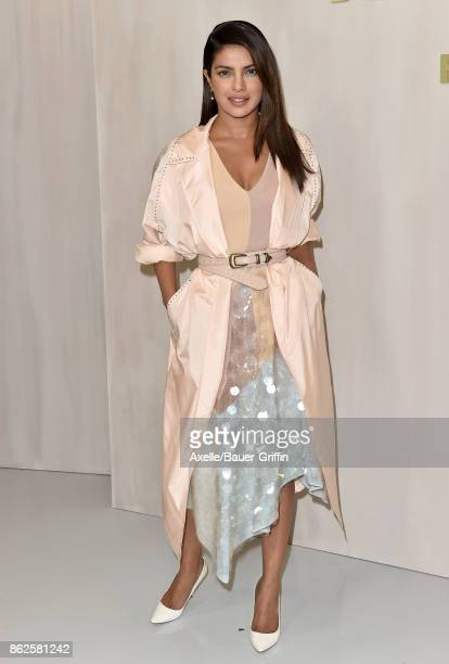 Actress Priyanka Chopra arrives at Hammer Museum Gala in the Garden on October 14 2017 in Westwood California