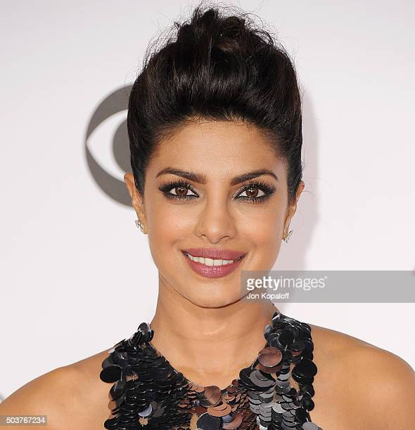 Actress Priyanka Chopra arrives at People's Choice Awards 2016 at Microsoft Theater on January 6 2016 in Los Angeles California